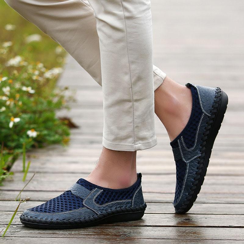 Ericdress Mesh Hollow Slip-On Men's Shoes
