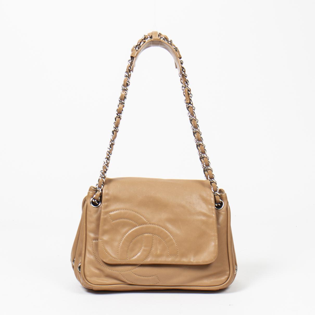 Chanel - Sac a main Timeless/Classique pour femme en cuir - marron
