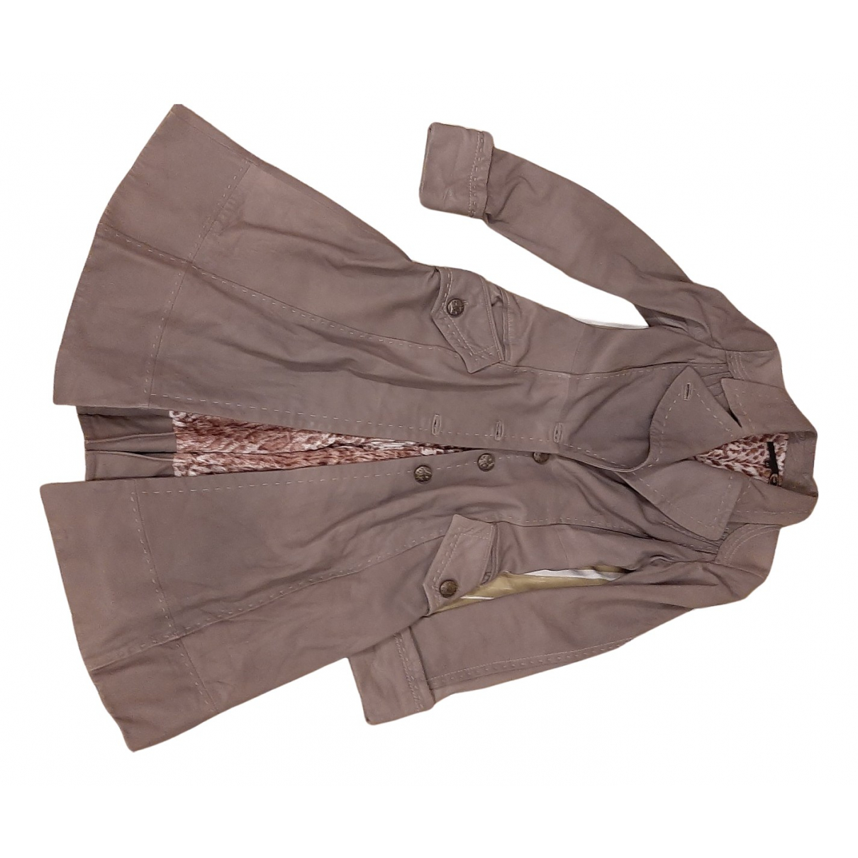 Just Cavalli N Leather coat for Women 42 IT