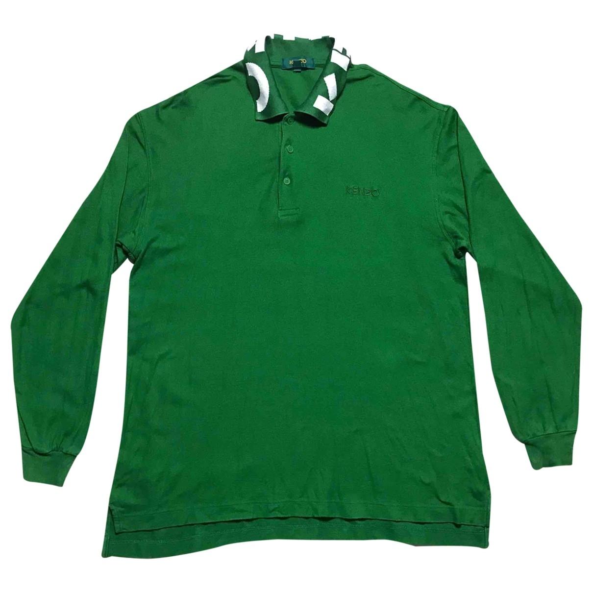 Kenzo - Polos   pour homme en coton - vert
