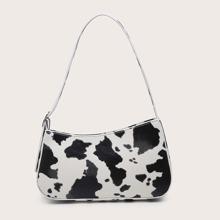 Baguettetasche mit Kuh Muster