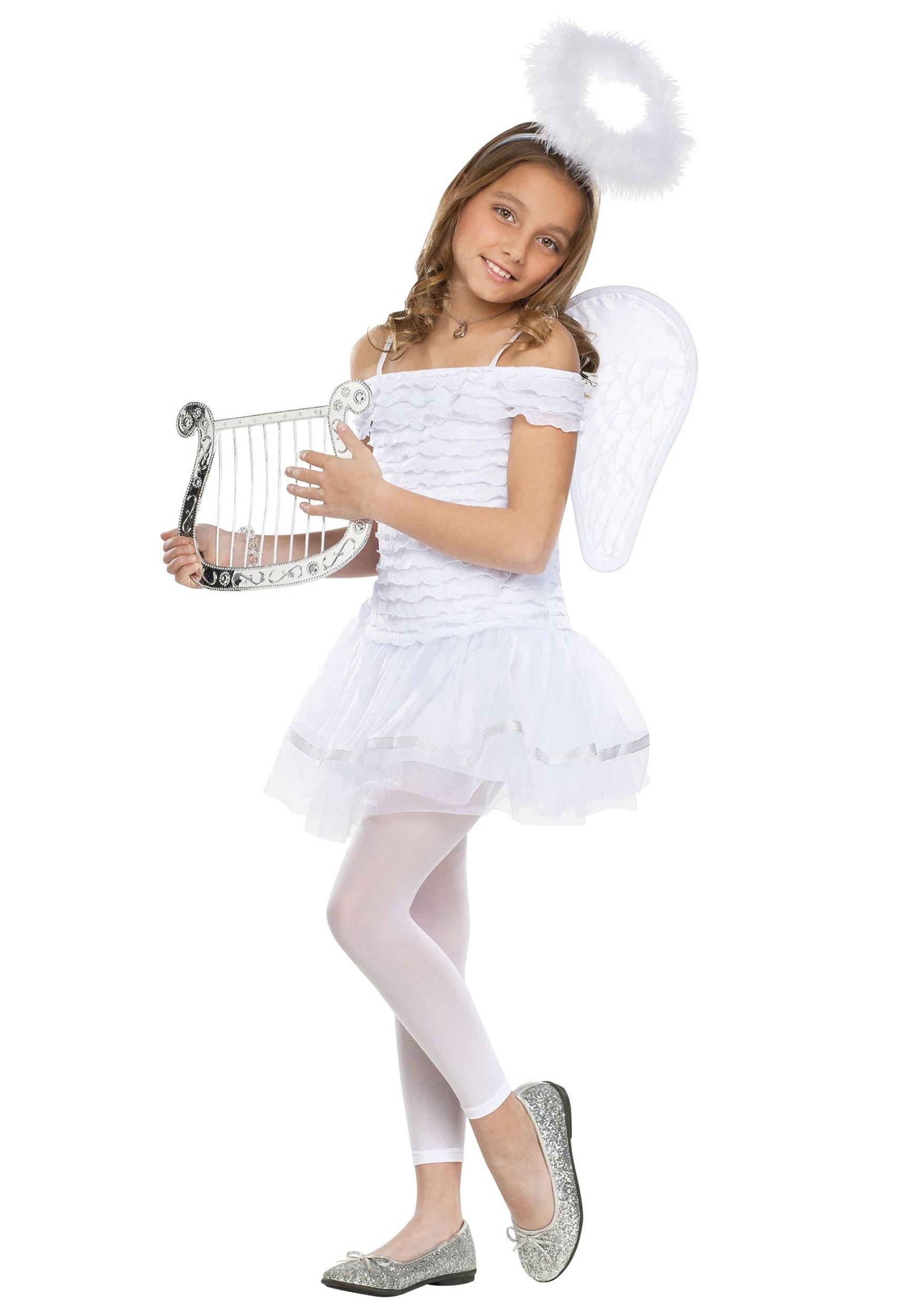 Girls Little Angel Costume