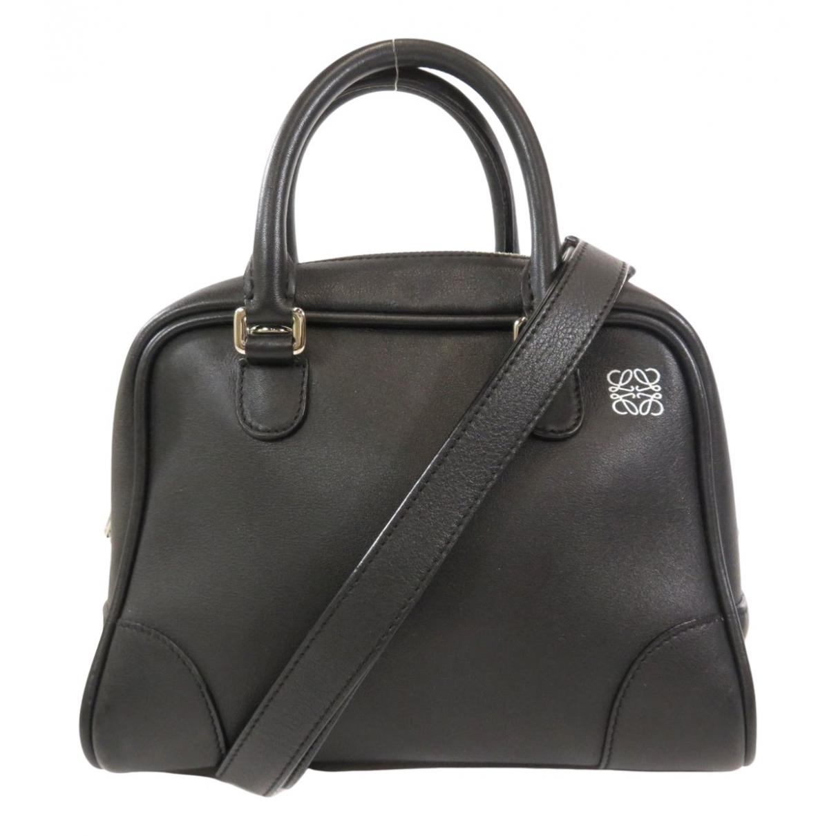 Loewe Amazona 75  Black Leather handbag for Women \N