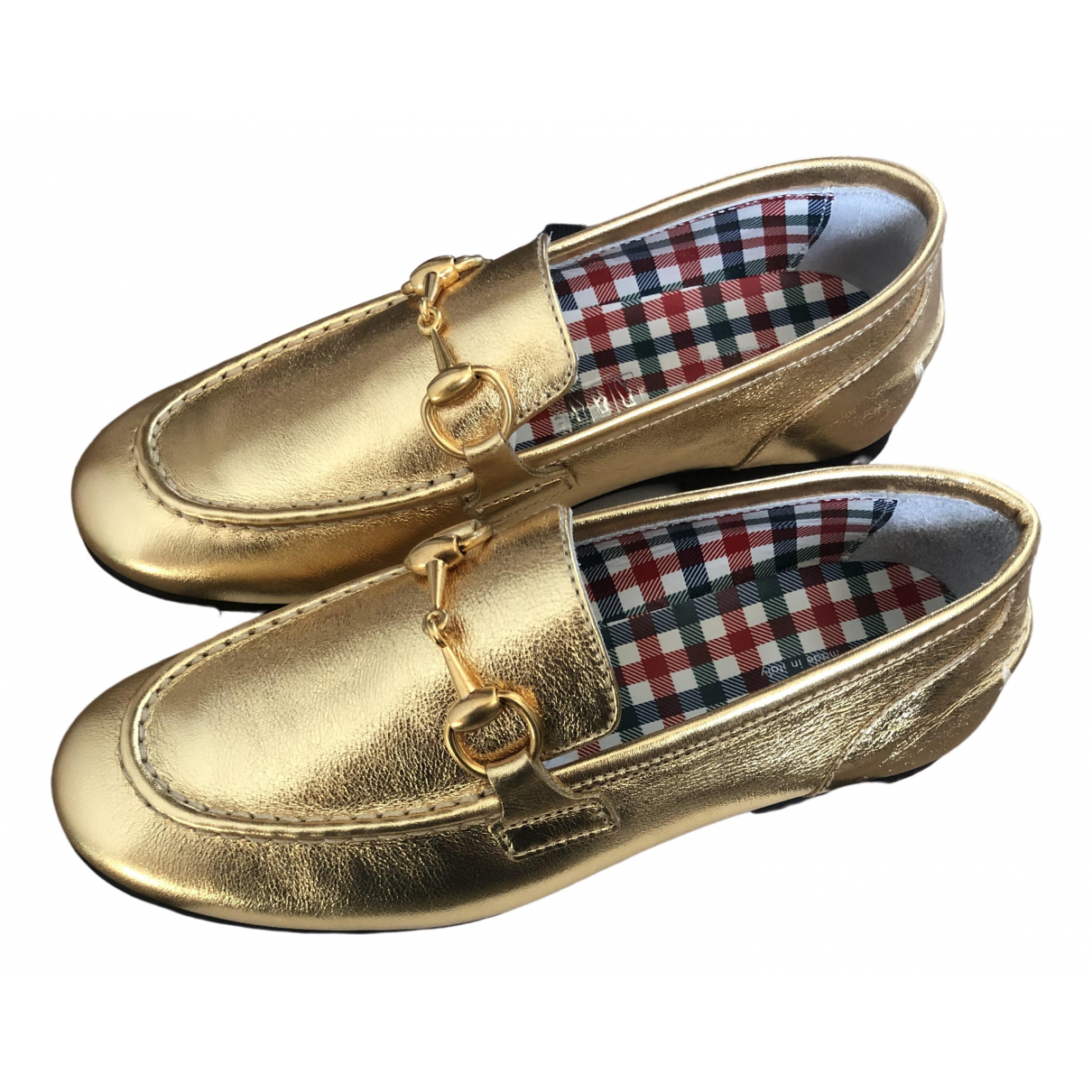 Gucci \N Gold Leather Flats for Kids 30 FR