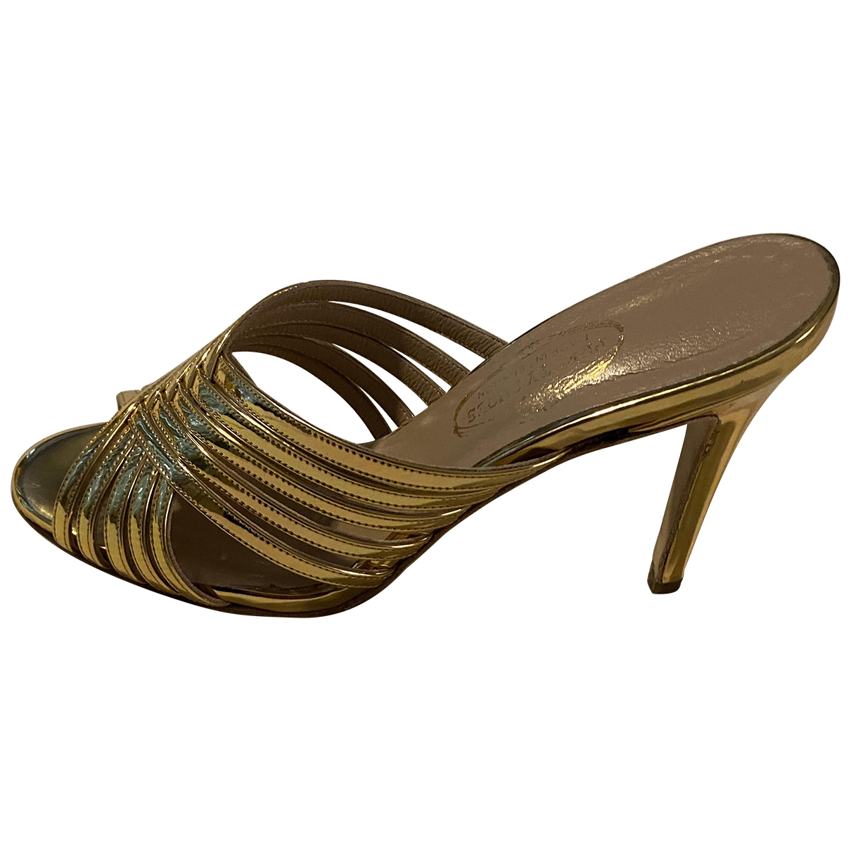 Non Signé / Unsigned \N Gold Leather Sandals for Women 41 EU