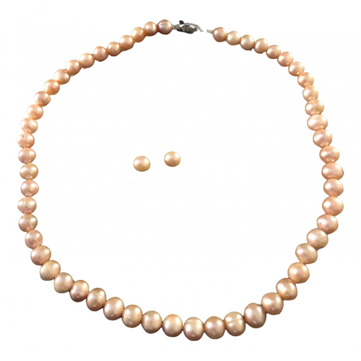 - Collier   pour femme en perle - rose