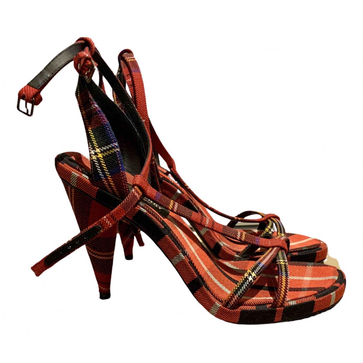 Burberry - Sandales   pour femme - rouge