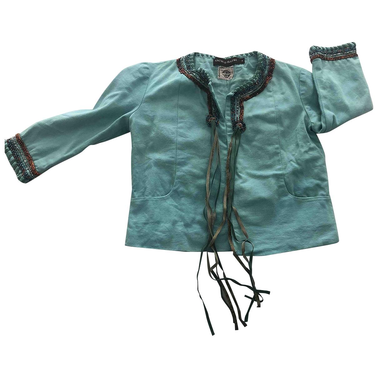 Antik Batik \N Jacke, Maentel in  Blau Baumwolle
