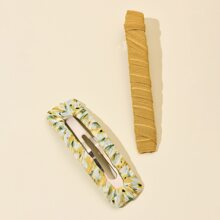 2pcs Geometric Design Hair Clip