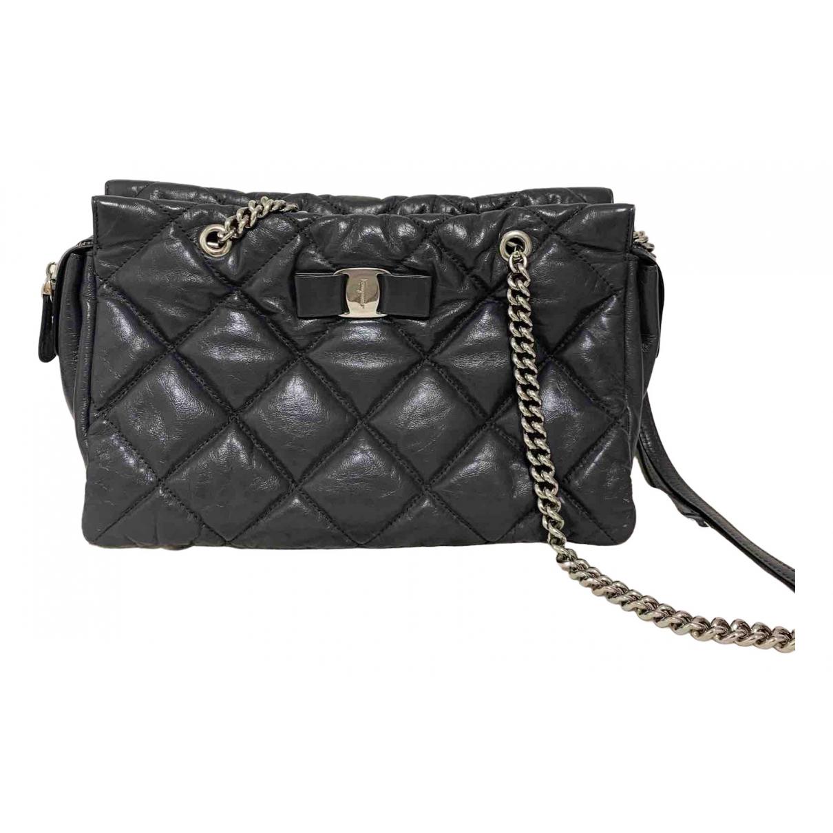 Salvatore Ferragamo Vara Grey Leather handbag for Women N