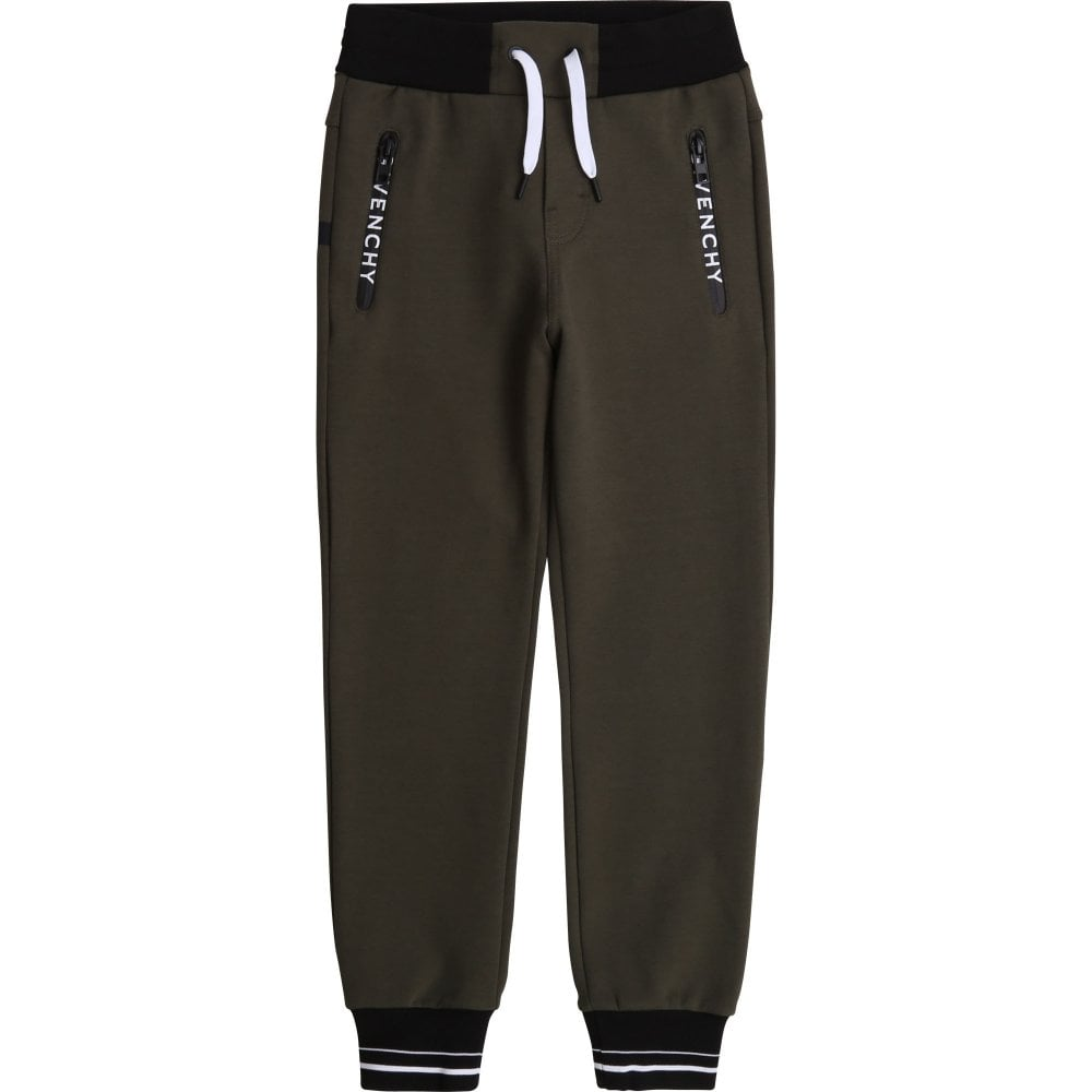 Givenchy Cotton Joggers Colour: GREEN, Size: 4 YEARS