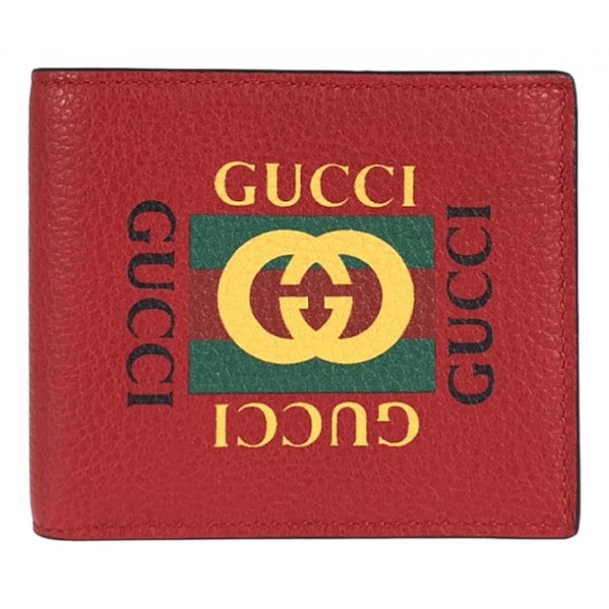 Gucci \N Kleinlederwaren in  Rot Leder