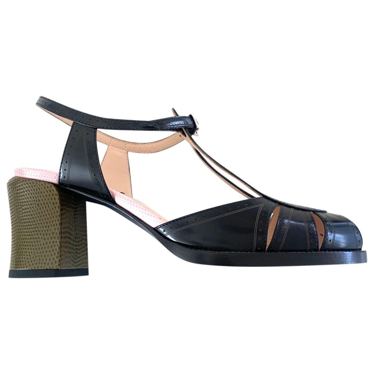 Fendi - Escarpins   pour femme en cuir - noir