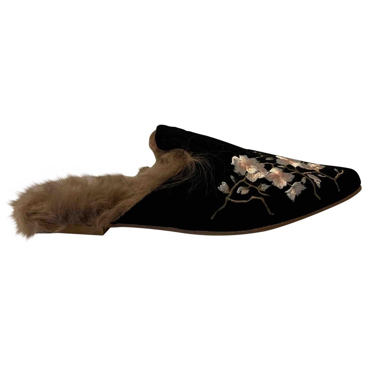Gia Couture - Sandales   pour femme en velours - noir