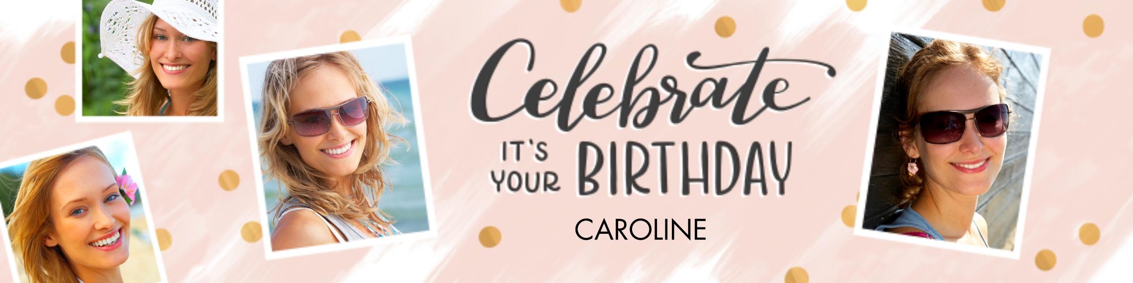 Birthday 2x8 Adhesive Banner, Home Décor -Confetti Celebration