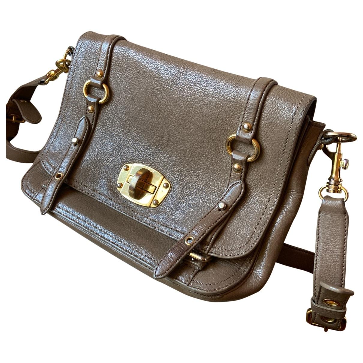 Miu Miu \N Camel Leather handbag for Women \N