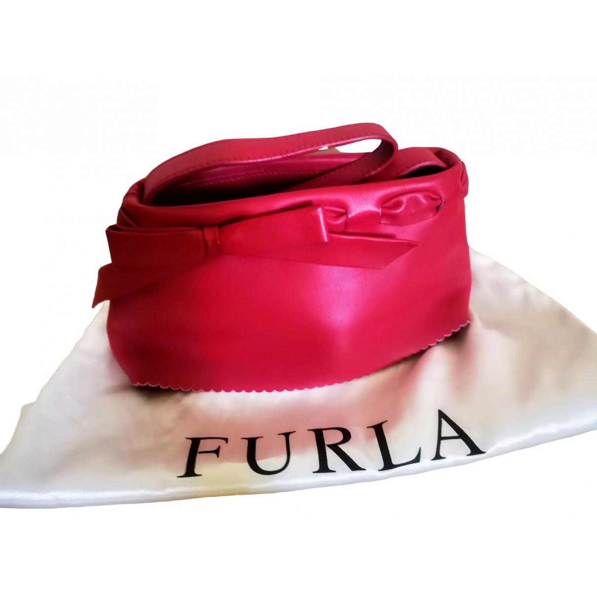 Furla - Sac a main   pour femme en cuir - rose