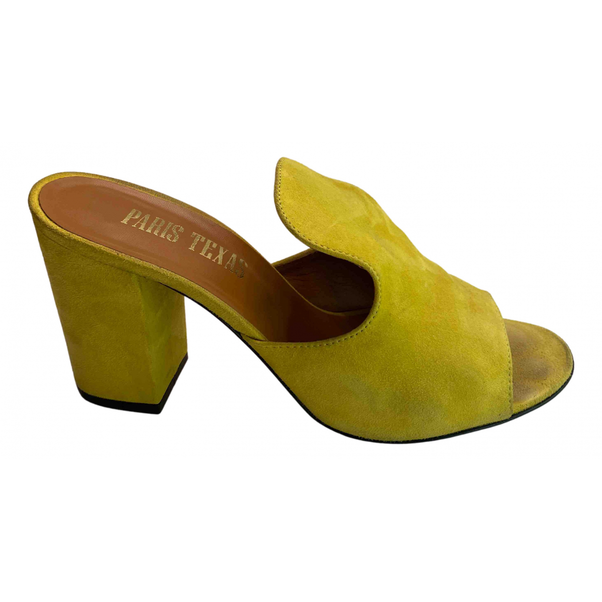 Paris Texas - Sandales   pour femme en suede - jaune