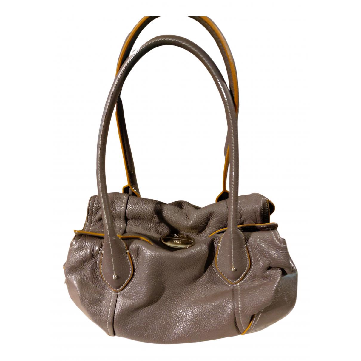 Lancel N Grey Leather handbag for Women N