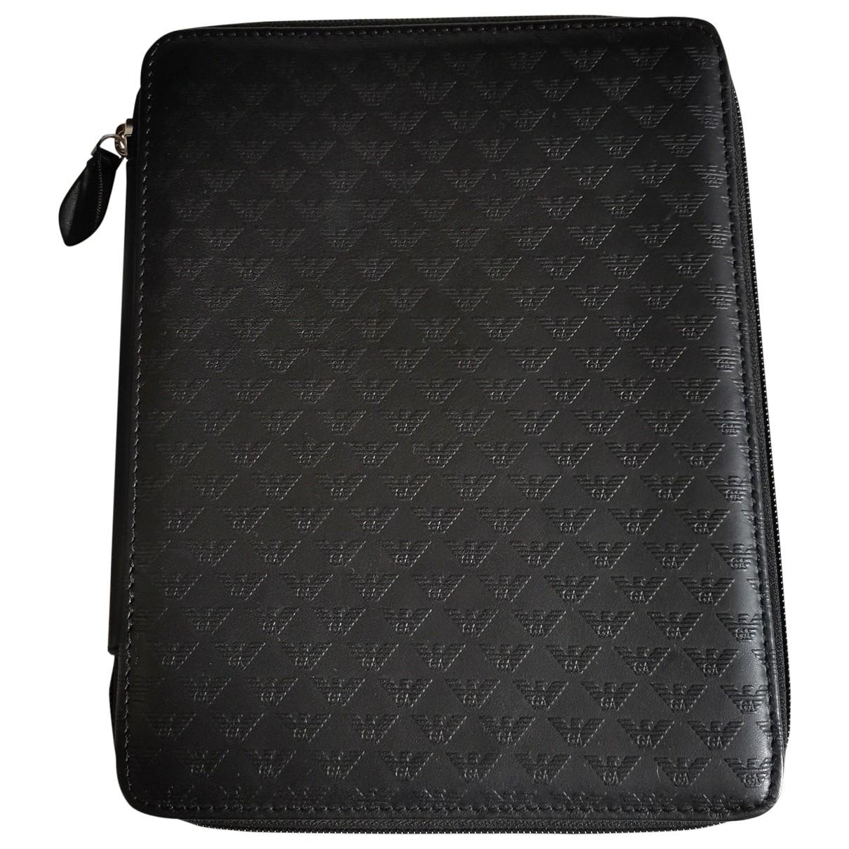 Emporio Armani - Accessoires   pour lifestyle en cuir - noir