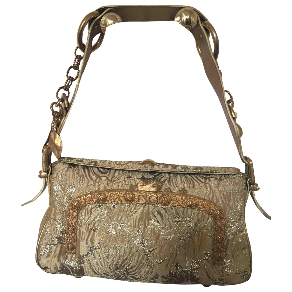 Dolce & Gabbana \N Handtasche in  Gold Leinen