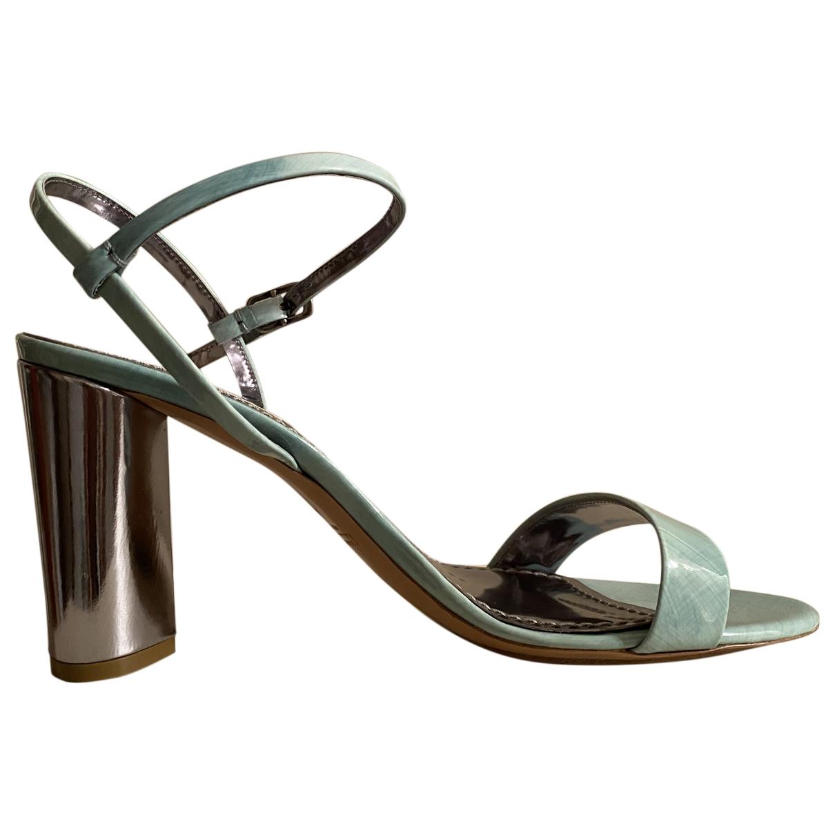 Marc Jacobs - Sandales   pour femme en cuir verni - turquoise
