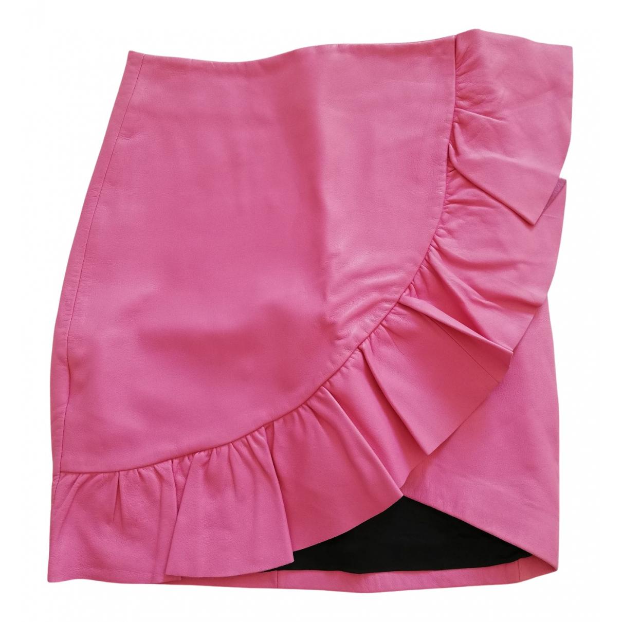 Mini falda de Cuero Uterque