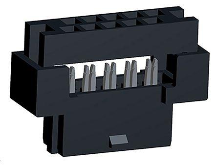 Molex , Milli-Grid, 87568 2mm Pitch 10 Way 2 Row Straight PCB Socket, Through Hole, IDC Termination (2)