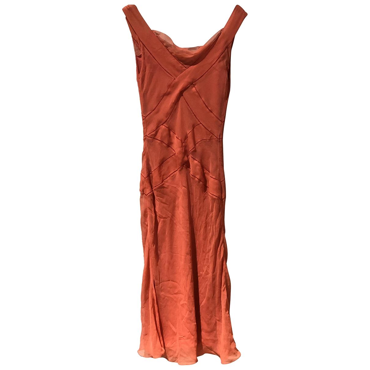 Alberta Ferretti - Robe   pour femme en soie - orange