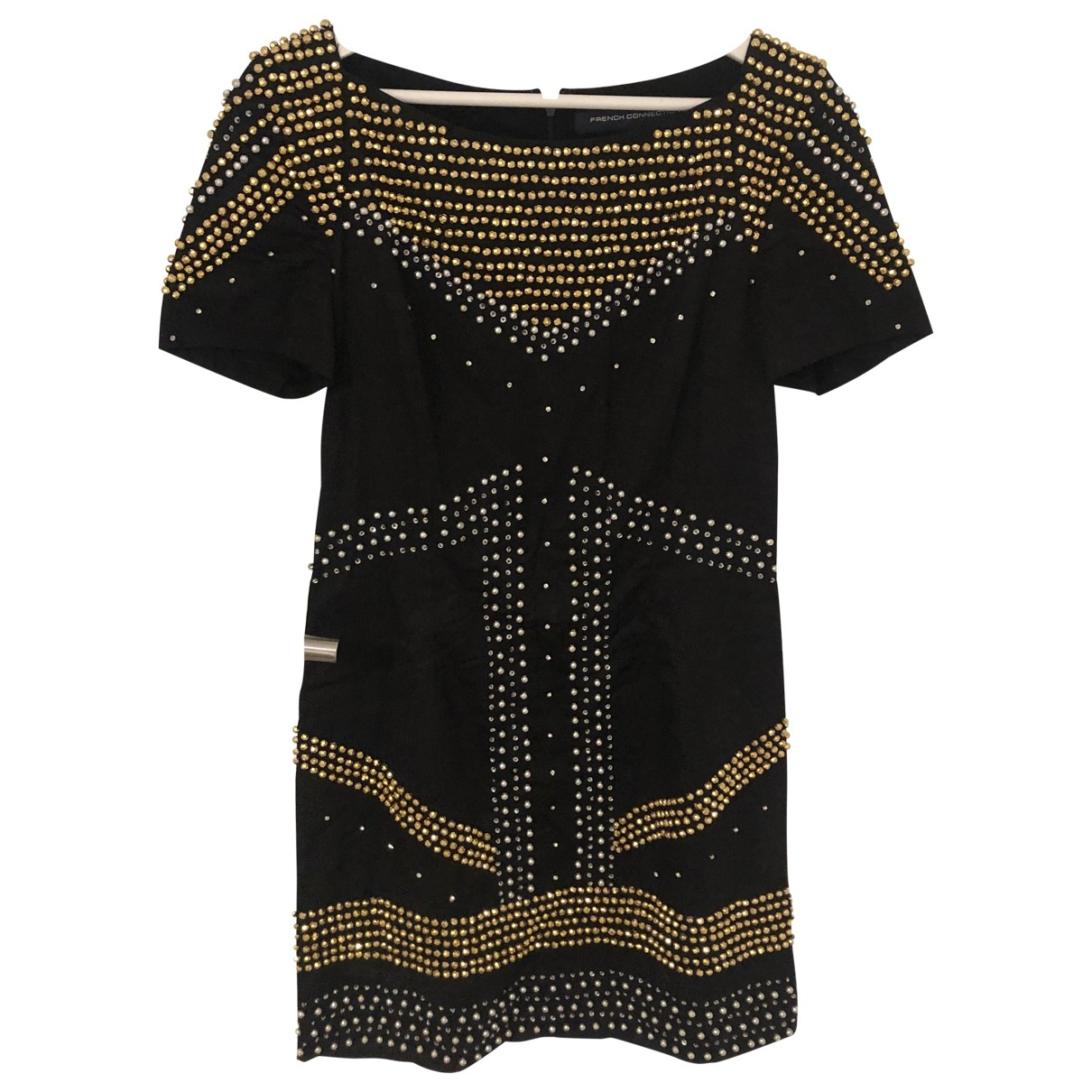 French Connection \N Black Cotton - elasthane dress for Women 10 UK