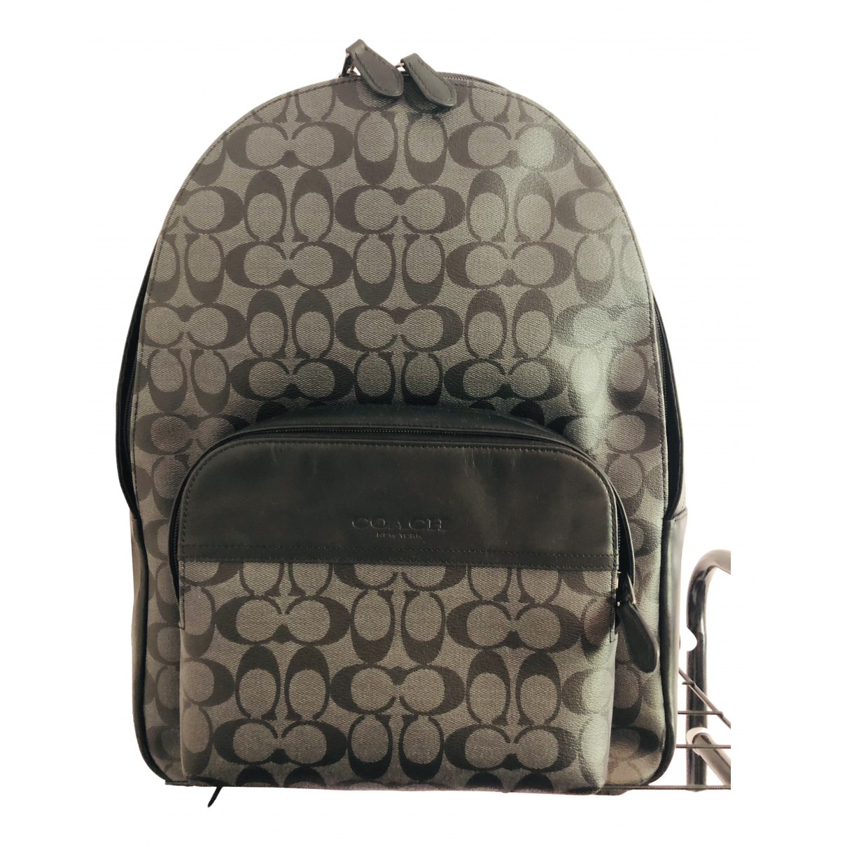 Coach \N Grey Patent leather bag for Men \N