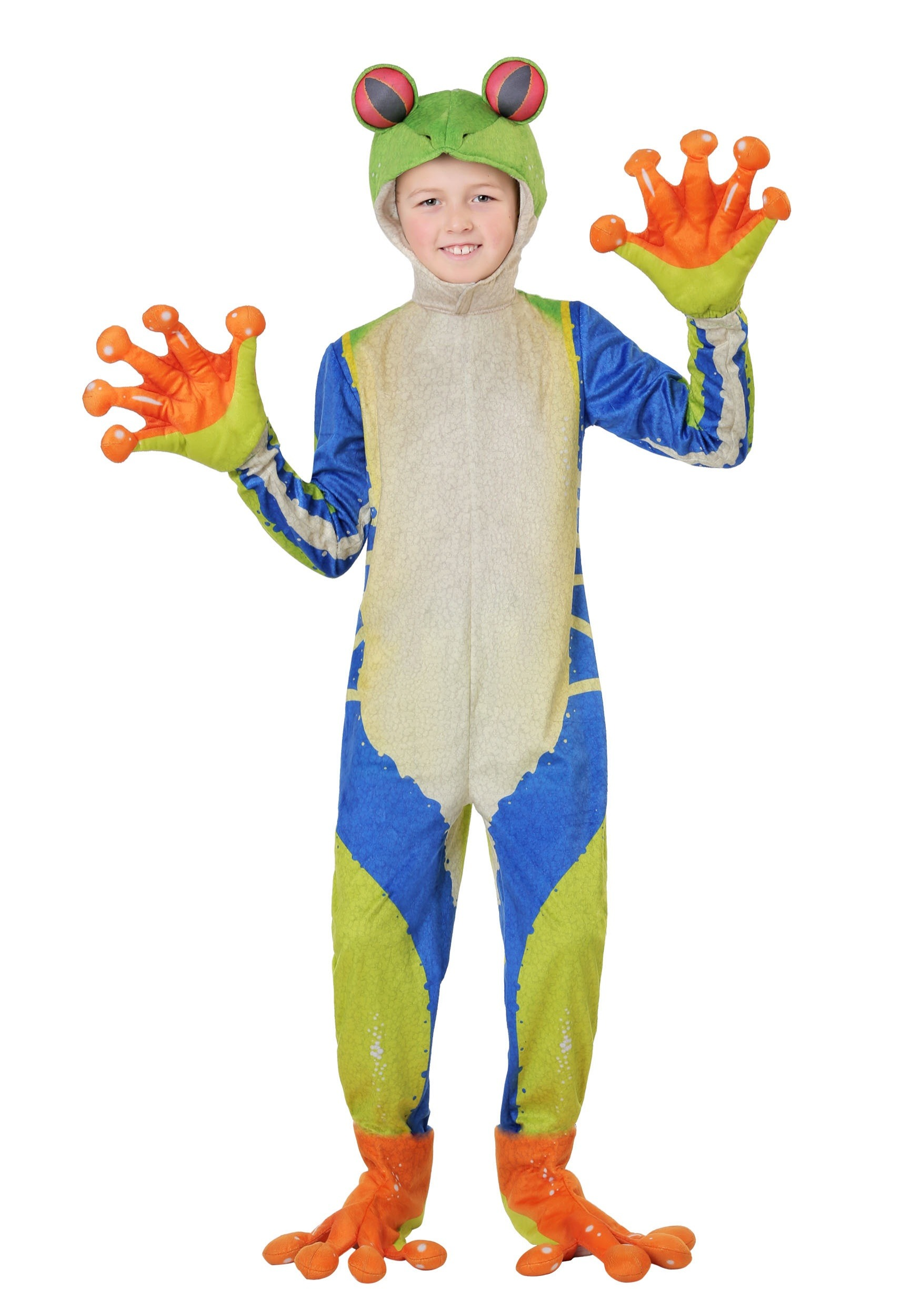 Realistic Tree Frog Costume for a Child