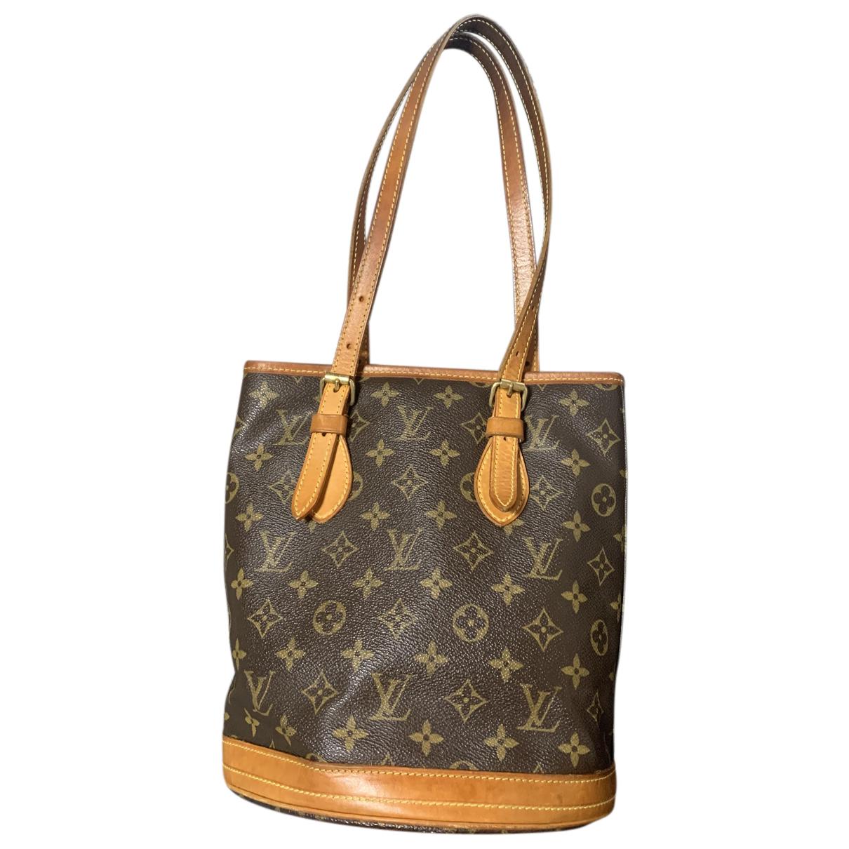 Louis Vuitton Bucket  Handtasche in  Braun Leinen