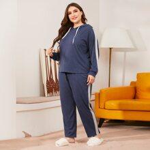 Pijamas de Talla Grande Cordon Monocolor Casual