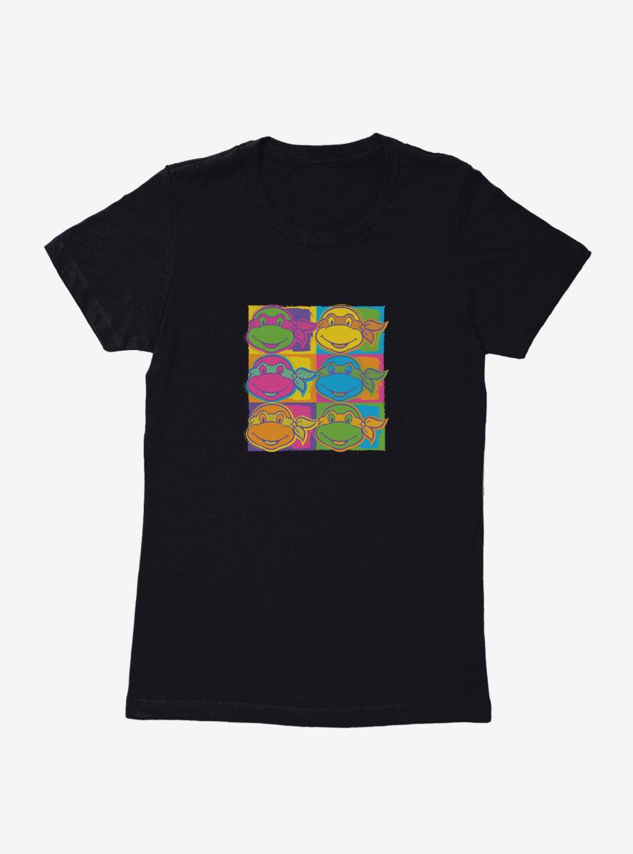 Teenage Mutant Ninja Turtles Character Heads Neon Womens T-Shirt