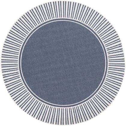 Alfresco ALF-9682 810 Round Cottage Rug in Charcoal