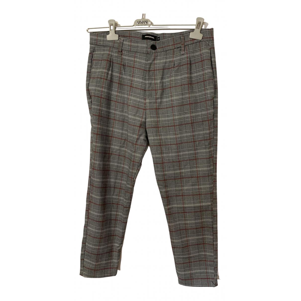 Impérial \N Grey Trousers for Men L International