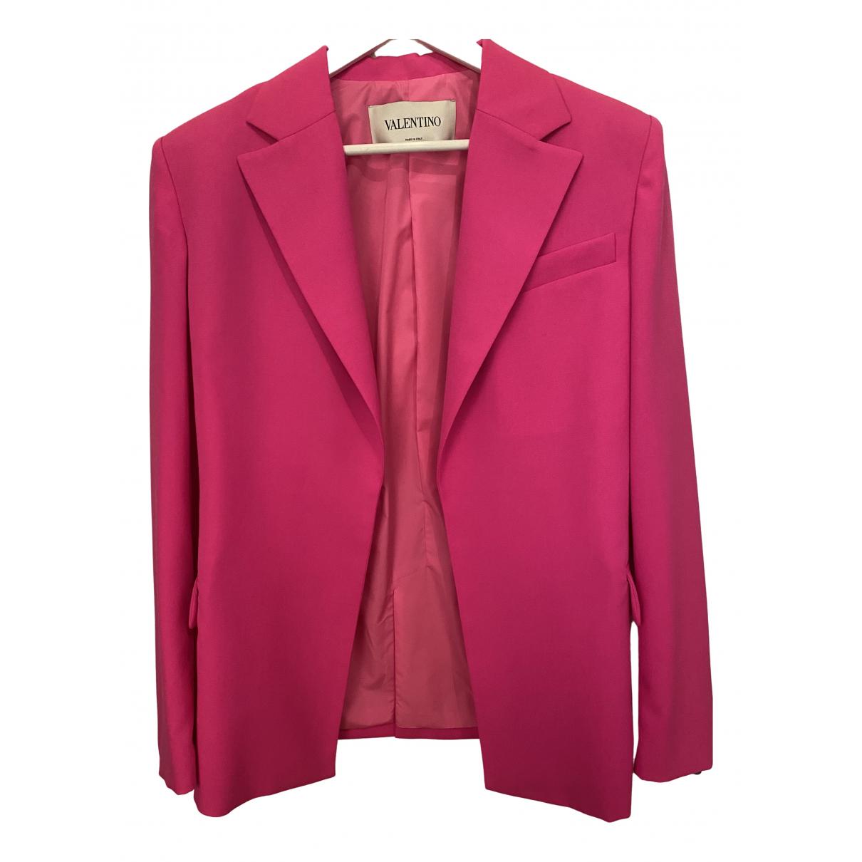 Valentino Garavani - Veste   pour femme en laine - rose
