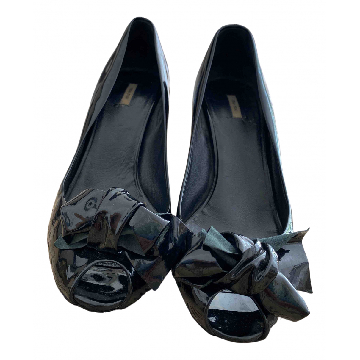 Miu Miu \N Black Patent leather Heels for Women 41 EU