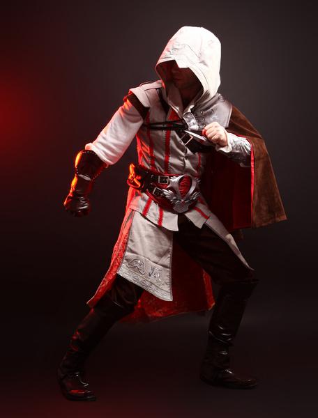 Milanoo Halloween Inspirado por Assassins Creed Ezio Halloween Cosplay Disfraz