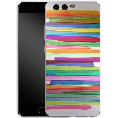 Huawei P10 Silikon Handyhuelle - Colorful Stripes 1 von Mareike Bohmer