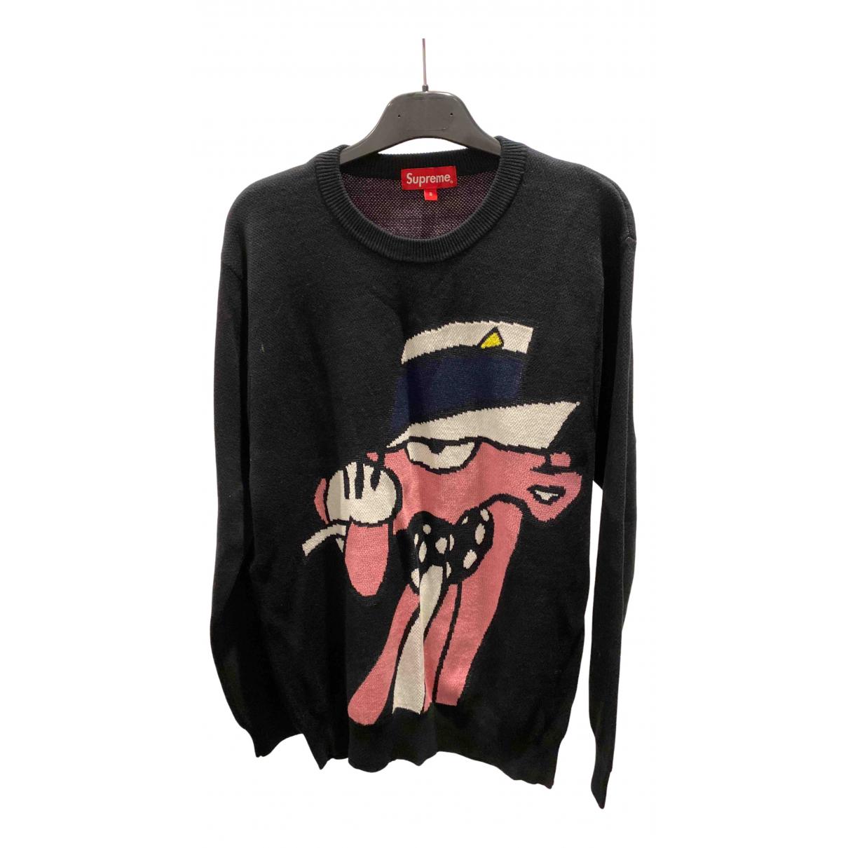 Supreme N Black Cotton Knitwear & Sweatshirts for Men S International