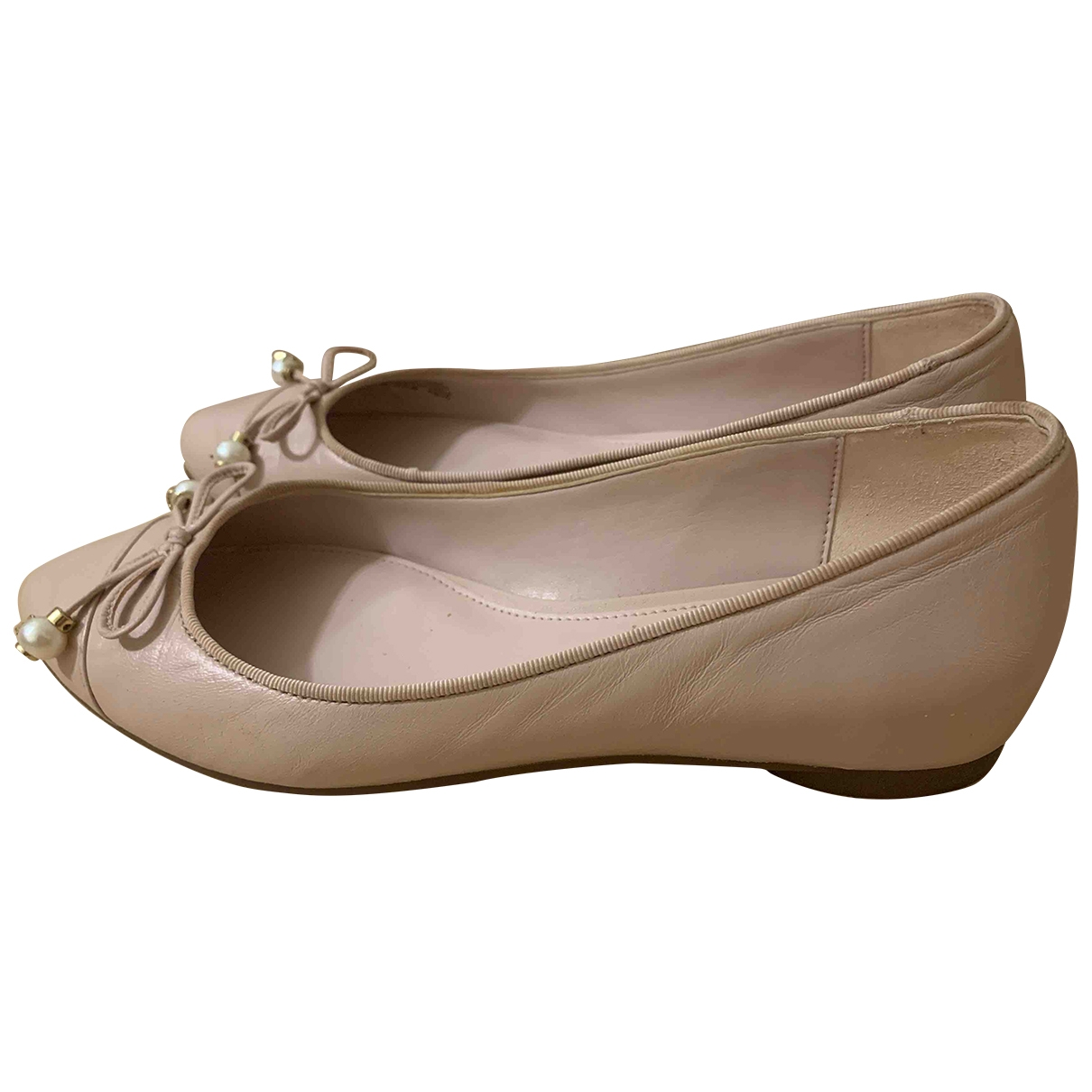 Michael Kors \N Pink Leather Ballet flats for Women 35.5 EU