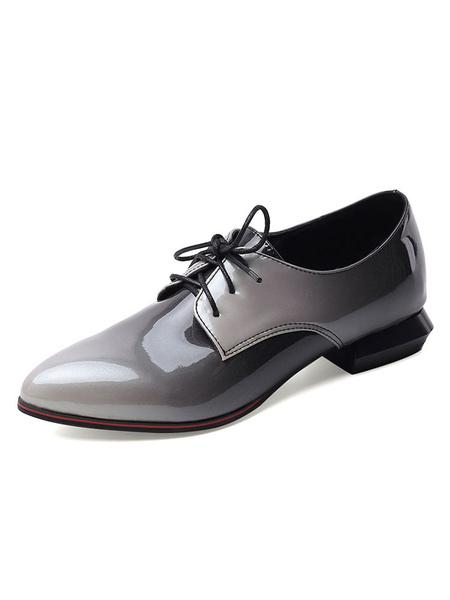 Milanoo Zapatos casuales con cordones y punta estrecha Ofor de Academic para mujer