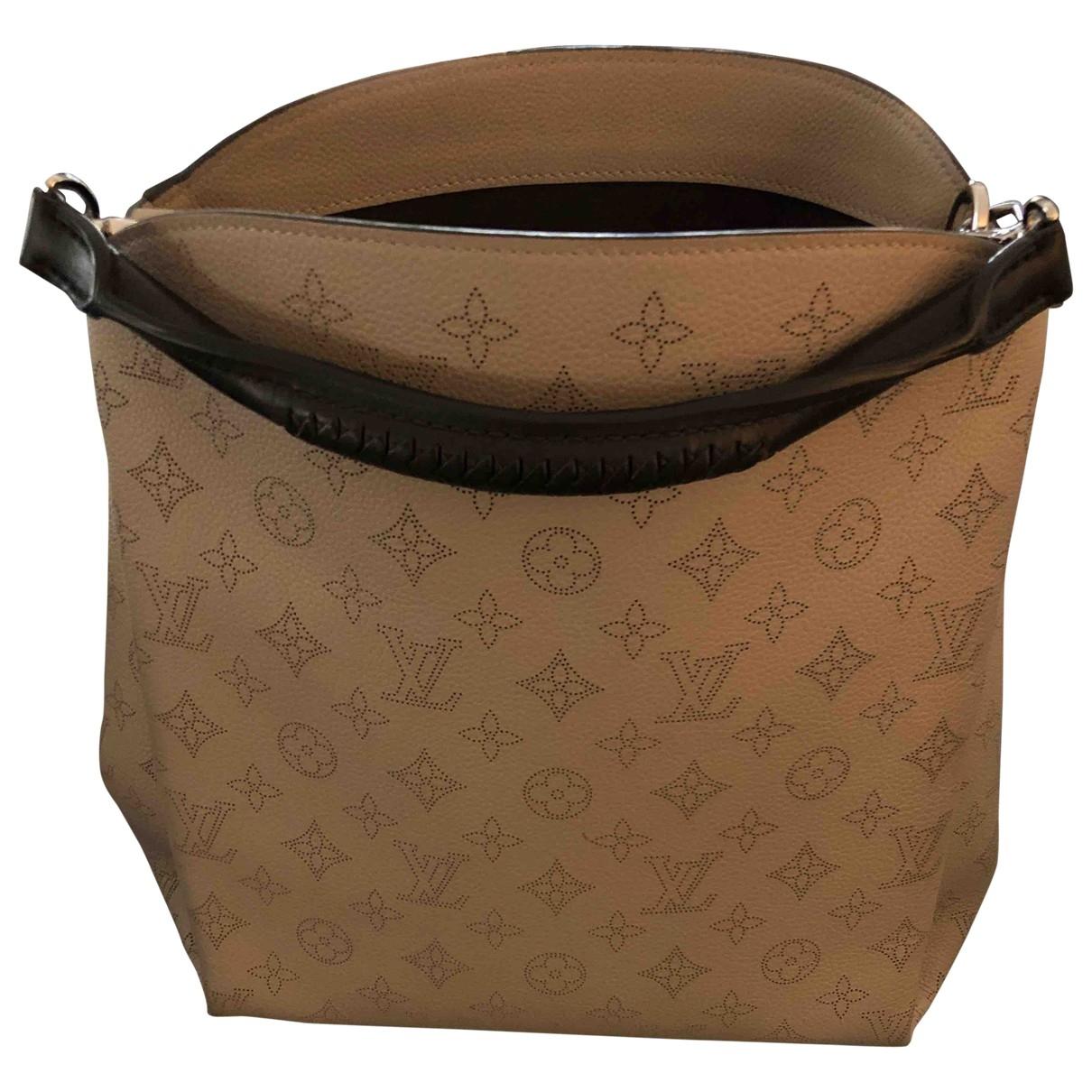 Louis Vuitton Babylone Handtasche in  Beige Leder