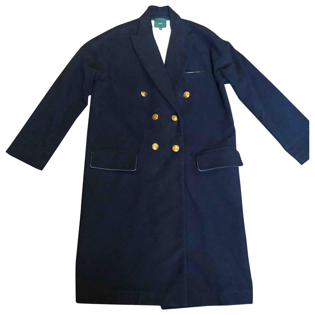 Non Signé / Unsigned \N Blue Cotton coat for Women 42 IT