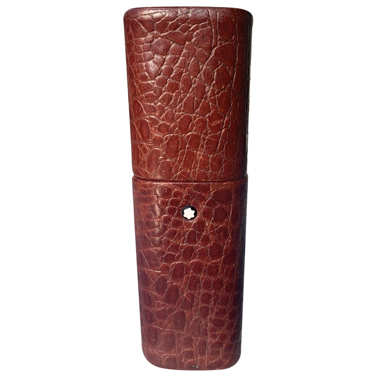 Montblanc - Objets & Deco   pour lifestyle en cuir - bordeaux
