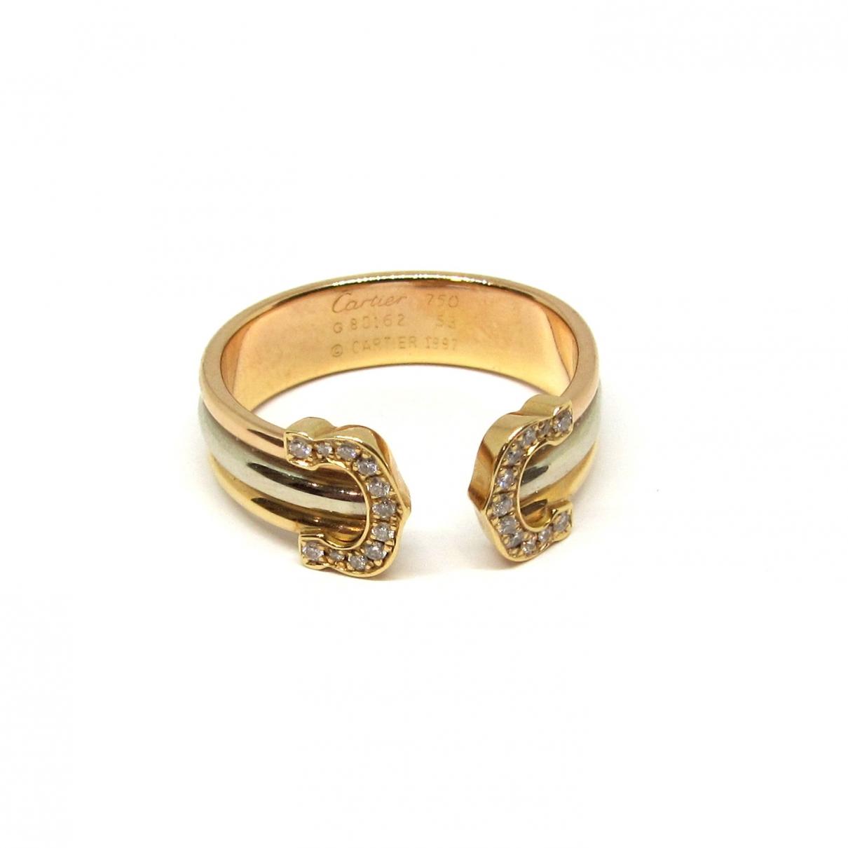 Cartier - Bague C pour femme en or jaune
