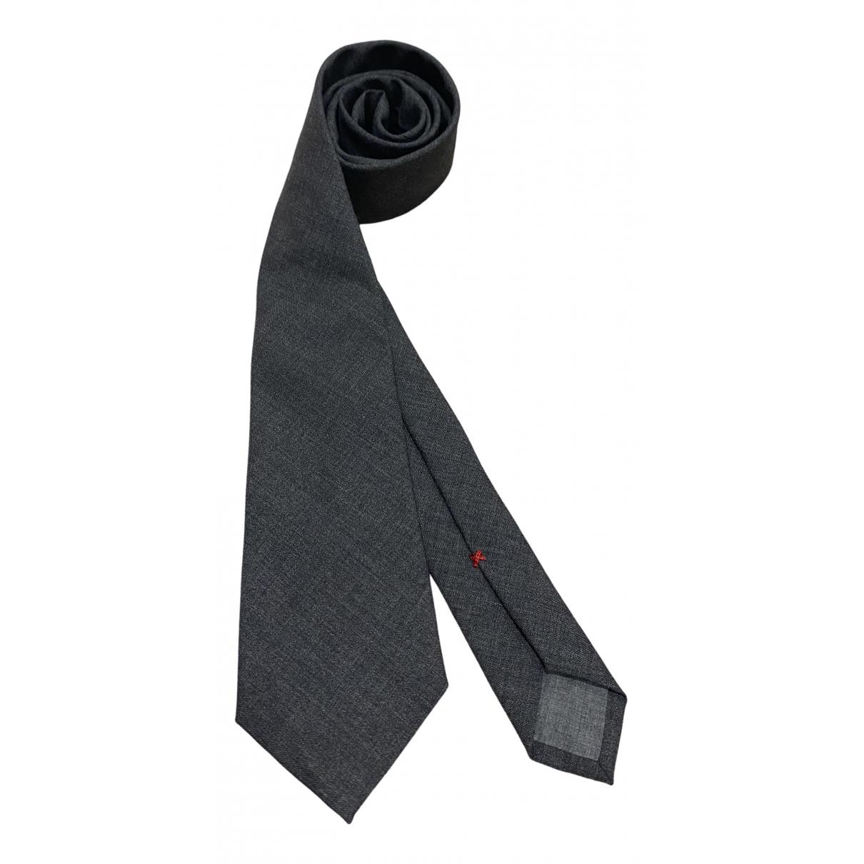Brunello Cucinelli \N Grey Wool Ties for Men \N