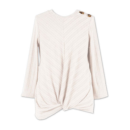 Speechless Big Girls Scoop Neck 3/4 Sleeve T-Shirt, Large , White